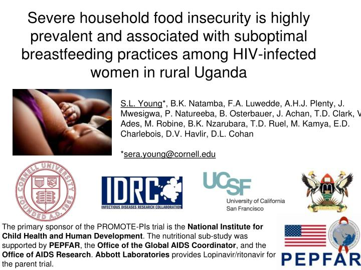Severe household food insecurity is highly prevalent and associated with suboptimal breastfeeding pr...