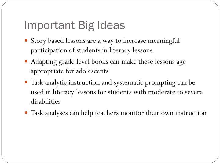 Important Big Ideas