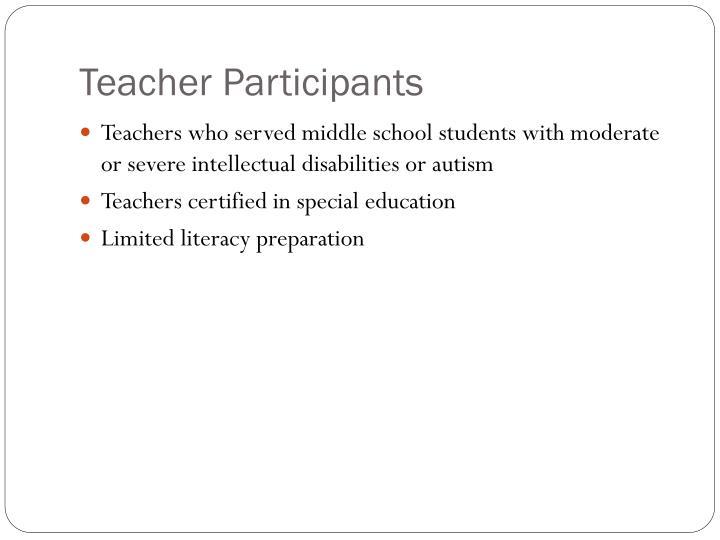 Teacher Participants