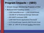 program impacts seo