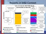 reports in m i context