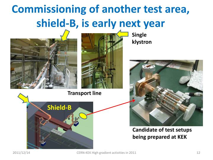 Commissioning of another test area,