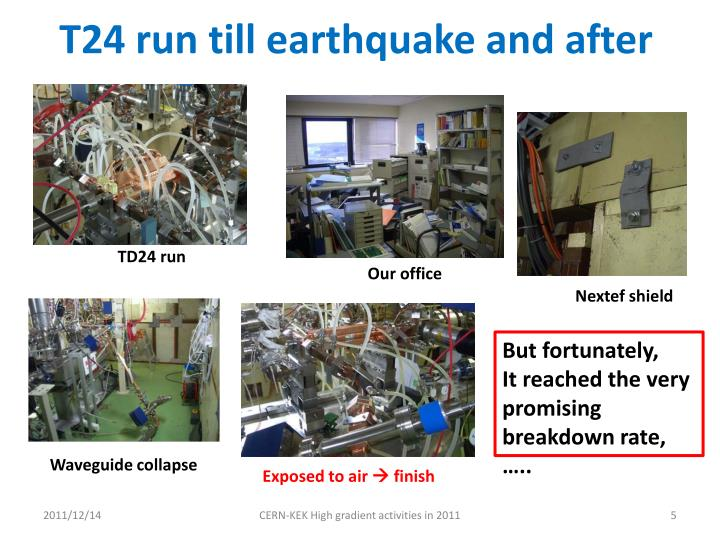 T24 run till earthquake and after