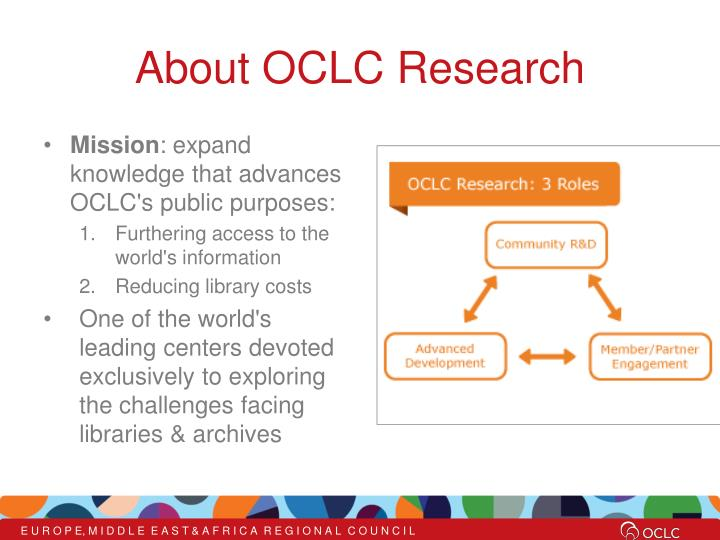 About oclc research