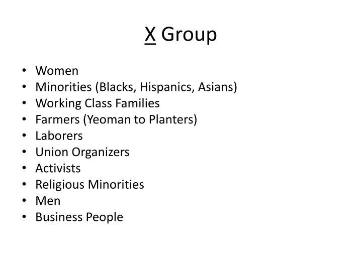 X group