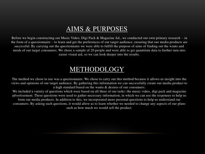 Aims purposes
