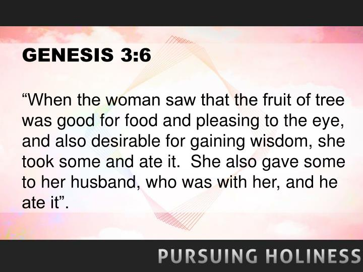 GENESIS 3:6