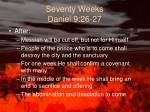 seventy weeks daniel 9 26 27