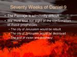 seventy weeks of daniel 9