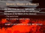 seventy weeks of daniel 91