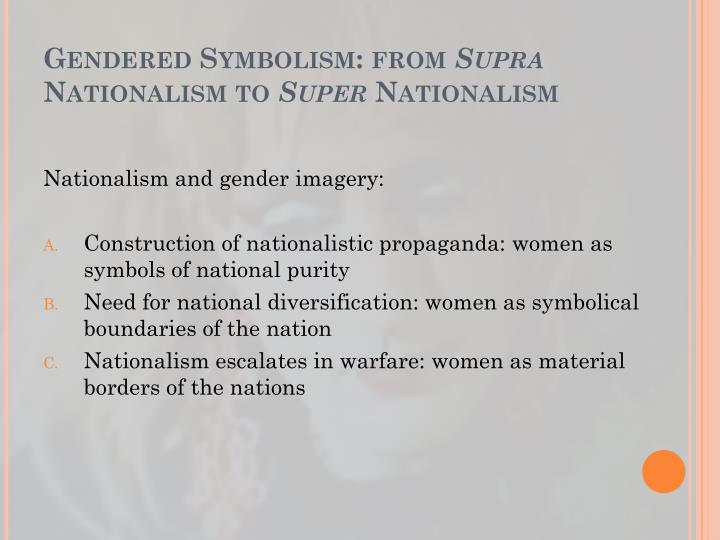 Gendered Symbolism: from