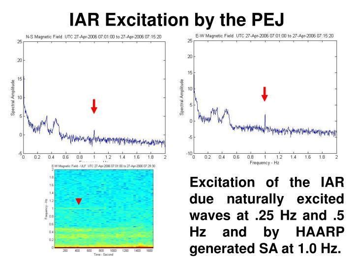 IAR Excitation by the PEJ