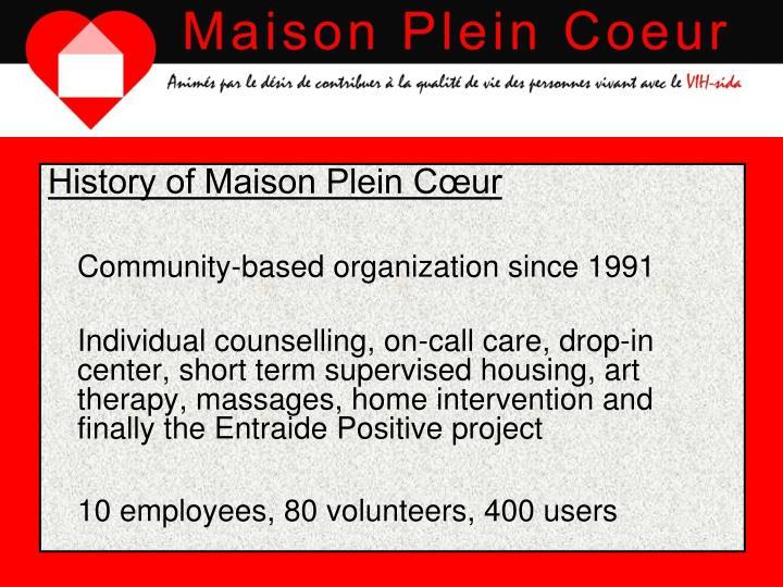History of Maison Plein Cœur