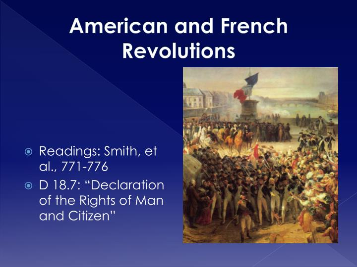 American and french revolutions