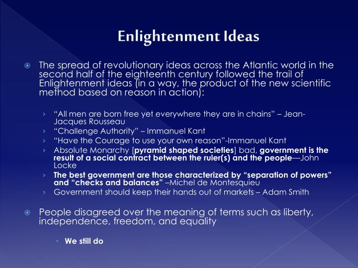 Enlightenment ideas