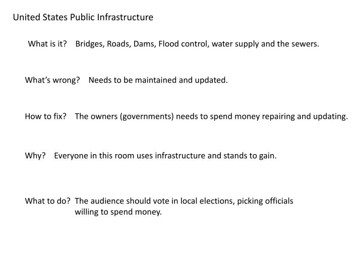 United States Public Infrastructure