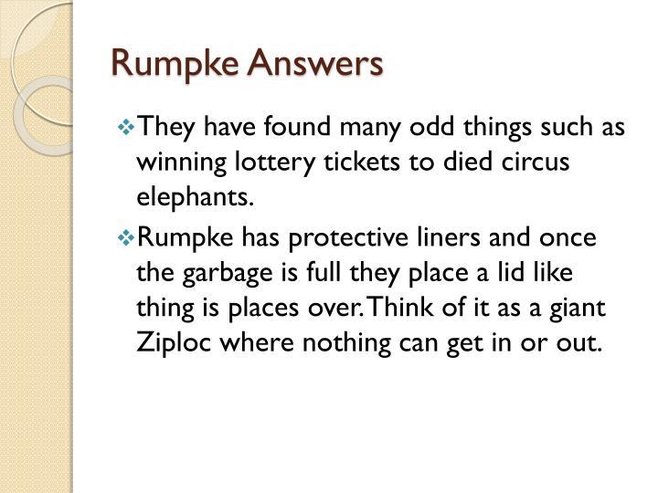 Rumpke Answers