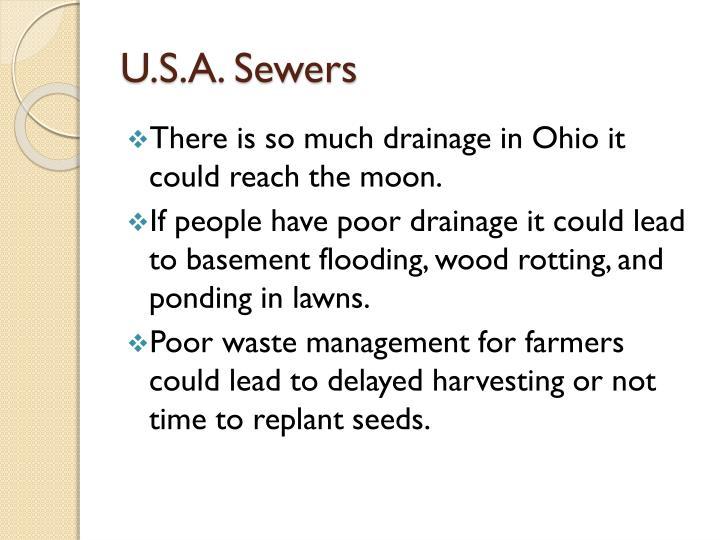 U s a sewers