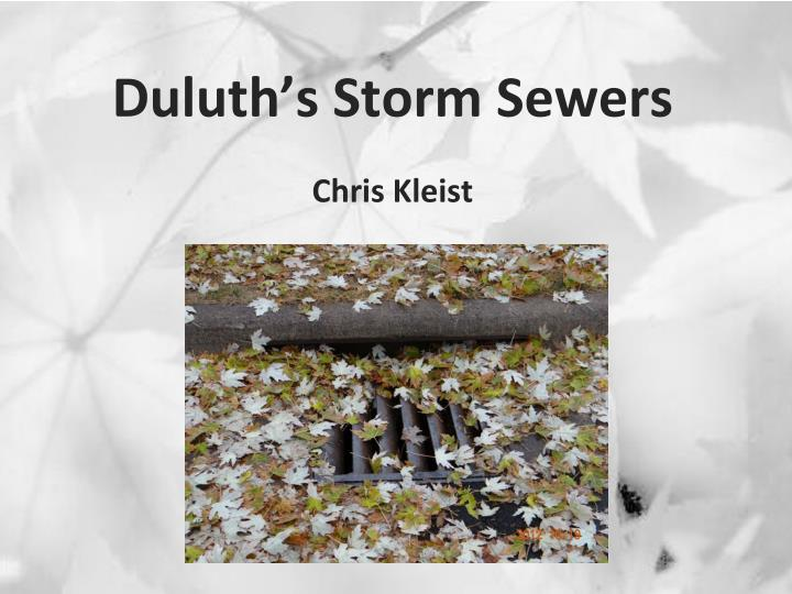 Duluth s storm sewers