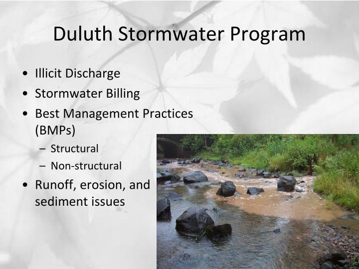 Duluth Stormwater Program