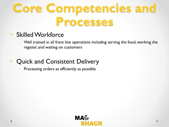 Core Competencies and Processes