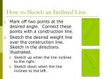 how to sketch an inclined line