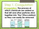 step 1 coagulation