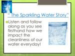 the sparkling water story