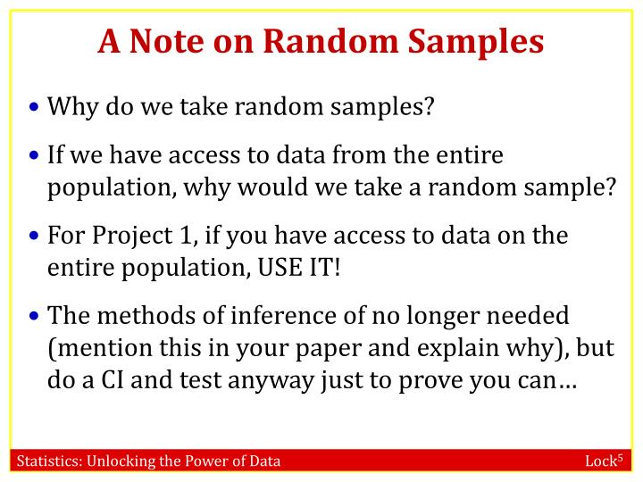 A note on random samples