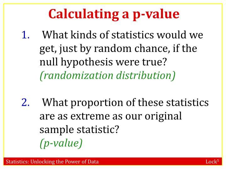 Calculating a p-value