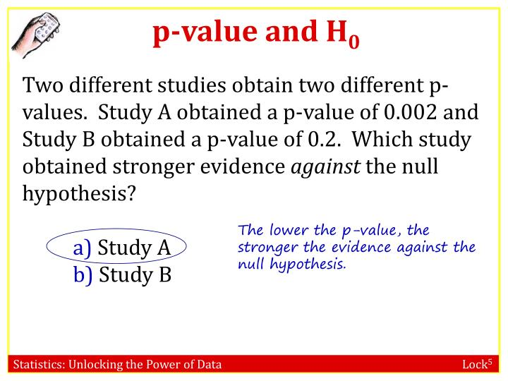 p-value and H