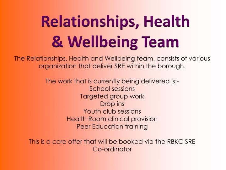Relationships, Health