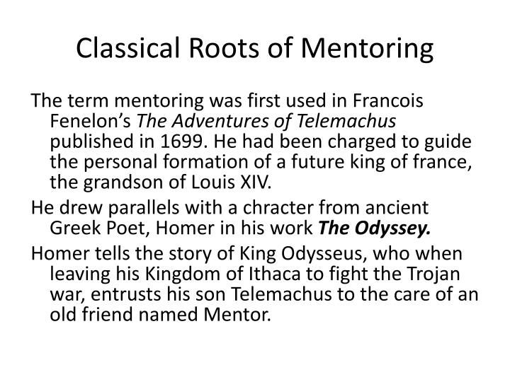 Classical Roots of Mentoring