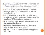 basic facts about std s provided by american social health association
