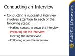 conducting an interview1