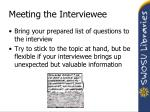 meeting the interviewee1