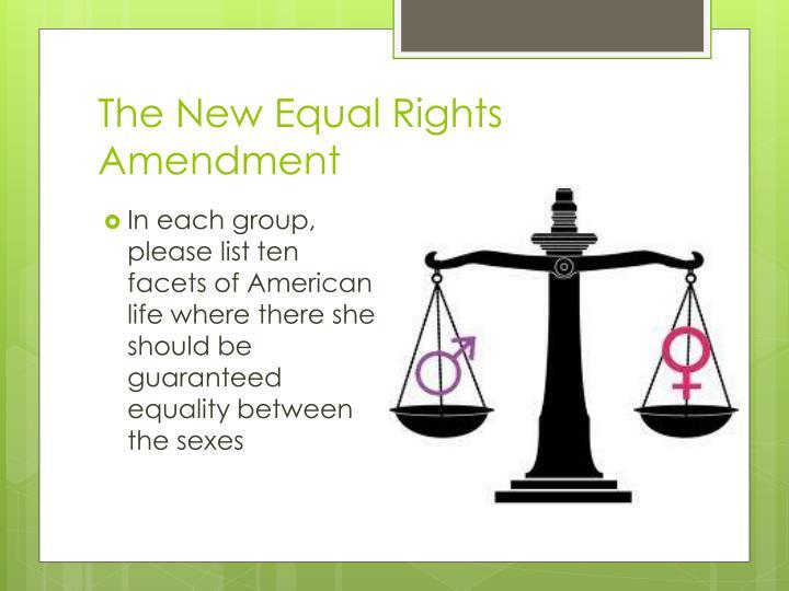 The New Equal Rights Amendment