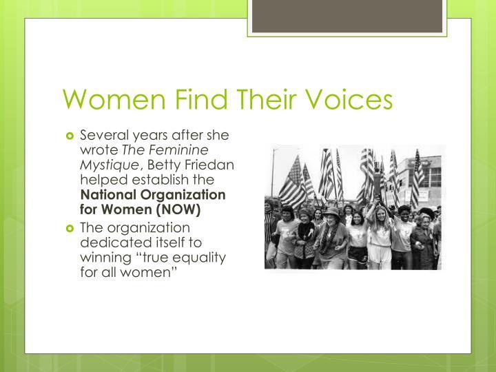 Women Find Their Voices