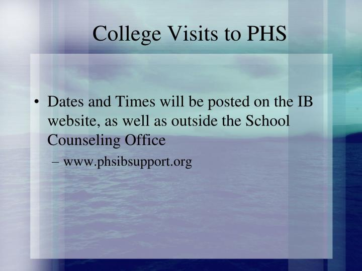 College Visits to PHS