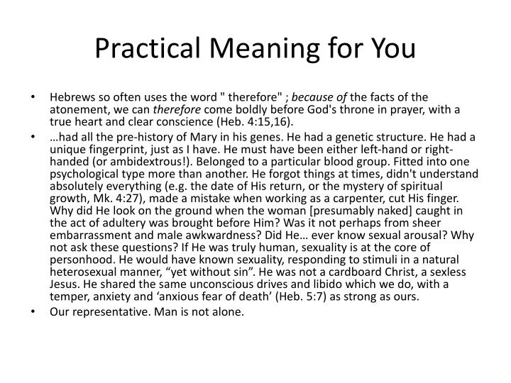 Practical Meaning for You