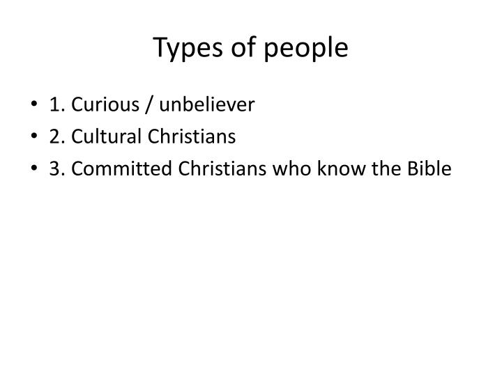 Types of people
