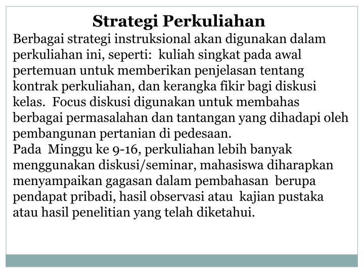 Strategi Perkuliahan
