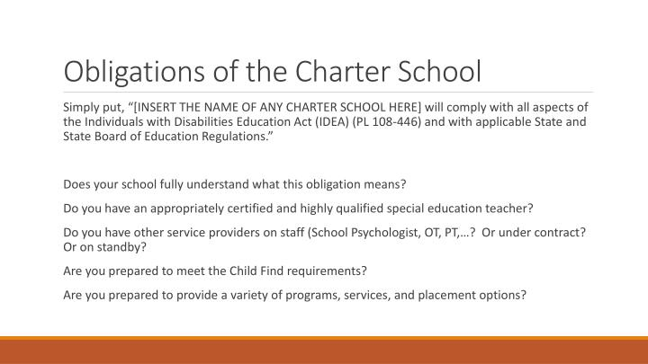 Obligations of the Charter