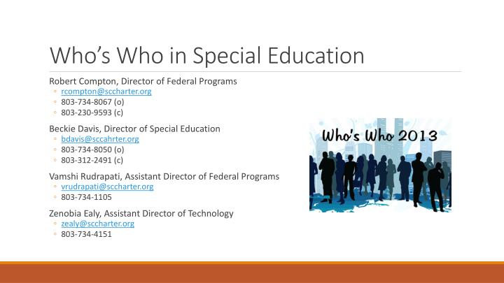 Who s who in special education