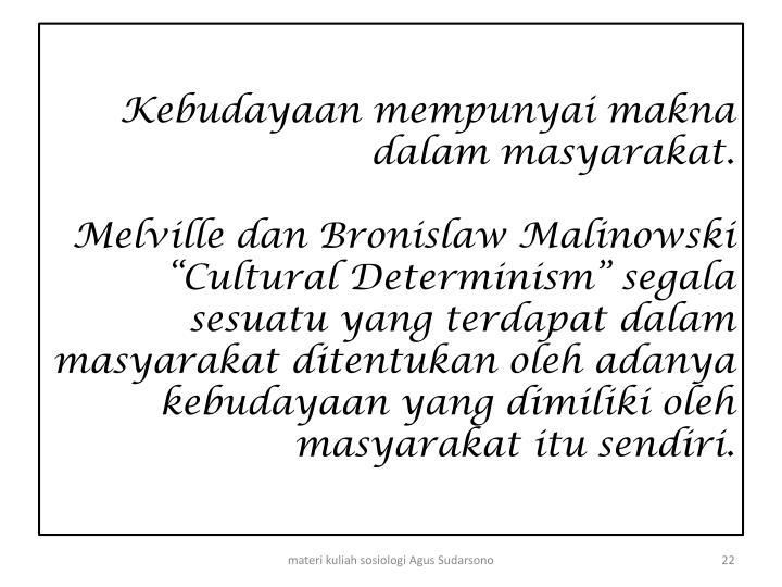 Kebudayaan