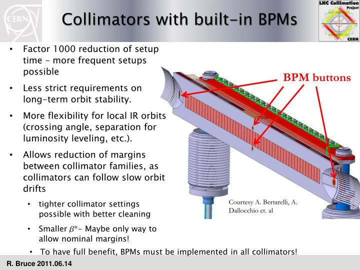 Collimators with built-in BPMs