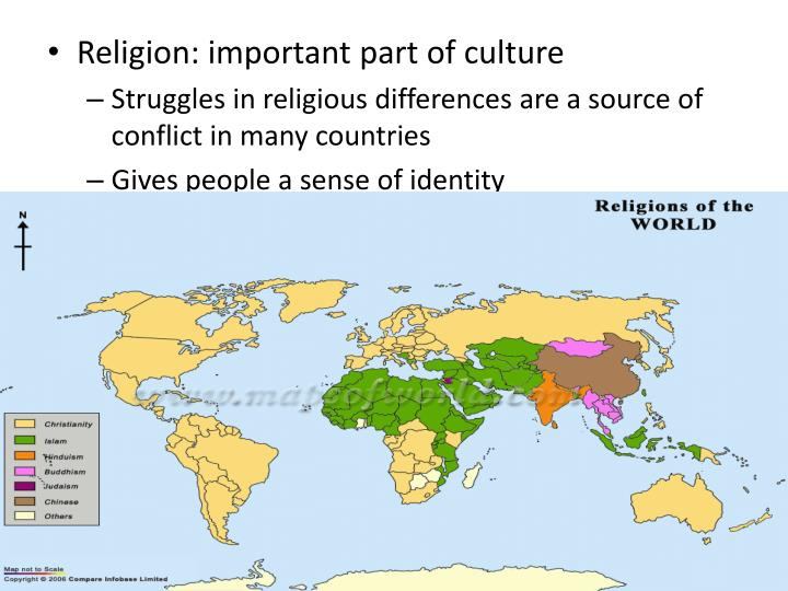 Religion: important part of culture