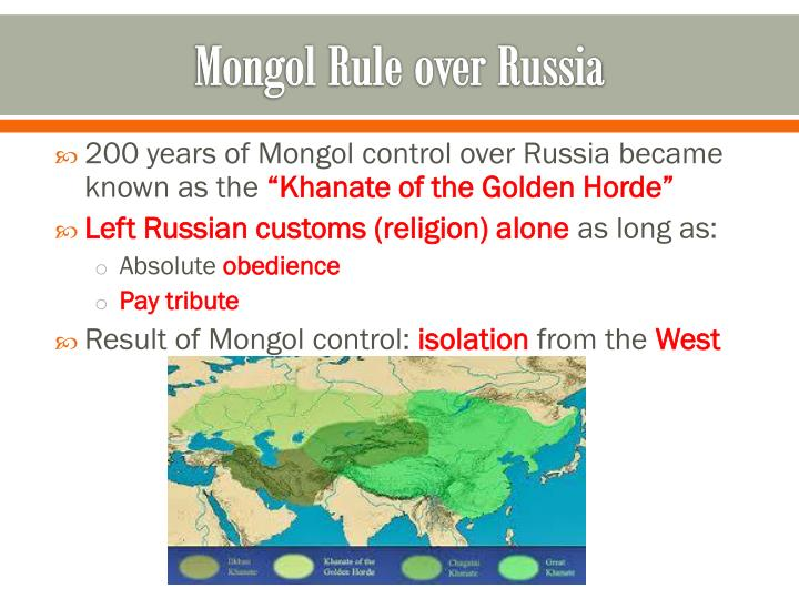 Mongol Rule over Russia
