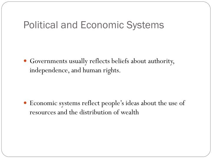 Political and economic systems1