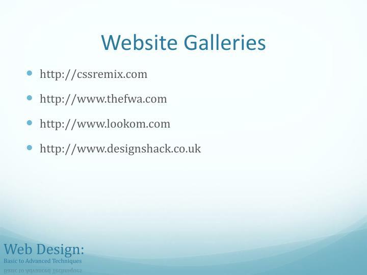 Website Galleries